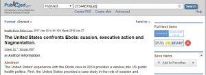 Schermata da PubMed