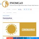 Coronavirus FNOMCeO